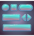 Set of bright blue glossy buttons vector image vector image