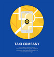 taxi mobile app concept smartphone with mobile vector image vector image