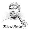 thales miletus vector image vector image