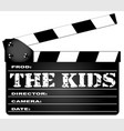 the kids clapperboard vector image vector image
