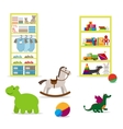 Toys and children clothing shop vector image