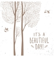 trees beautiful card vector image vector image