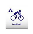 triathlon sport symbol stickman solid icon vector image