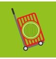 trolley shop juicy watermelon fruit vector image vector image