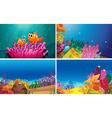 Underwater scenes vector image vector image