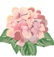 Vintage Card with Watercolor Geranium vector image vector image