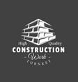 vintage construction label vector image vector image