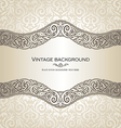 Vintage style cream invitation card vector image vector image