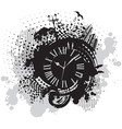 vintage wallpaper background with clock vector image vector image