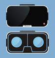 virtual reality glasses vr technology vector image vector image