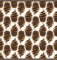 white cream choco cake seamless pattern vector image vector image