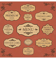Vintage Label Style Frame Collection vector image