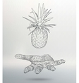 Abstract geometrical background Pineapple on hand vector image