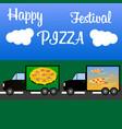 festival of italian pizza at the international vector image