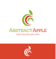 abstract apple for food or nutrition logo vector image vector image