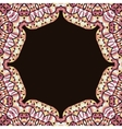 Abstract circle floral ornamental border vector image