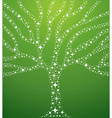 Abstract stars tree vector image vector image