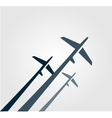 Airplanes background vector image