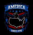 american since 1776 vector image