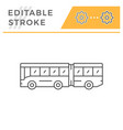 articulated bus line icon vector image vector image