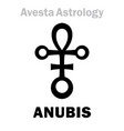 astrology astral planet anubis vector image vector image