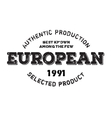 Authentic european product stamp vector image vector image