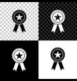 award medal with star and ribbon icon isolated on vector image