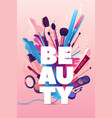 beauty salon colorful hairdresser and makeup vector image