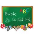 Blackboard Classroom vector image vector image