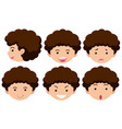 boy with different expressions vector image vector image