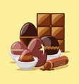 chocolate bar design vector image vector image