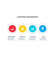 circles for infographic business concept vector image vector image