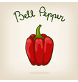 Cute of bell pepper vector image vector image