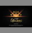 elegant christmas background with bhining gold vector image