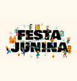 festa junina templates for banner vector image vector image