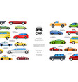 flat colorful automobiles template vector image vector image