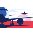 flat style airliner at vector image vector image