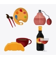 France design food perfum and palette icon vector image