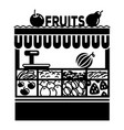 fruit stall icon simple style vector image