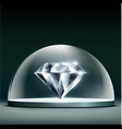 gem diamond cover glass dome vector image