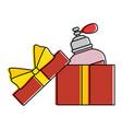 giftbox with women perfume bottle icon vector image