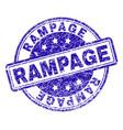 grunge textured rampage stamp seal vector image