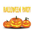 halloween party isolated pumpkin vector image