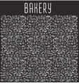 Hand drawn bakery seamless logo background vector image vector image