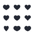 heart icon set like and love symbols vector image