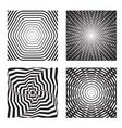 hypnotic background set 2 vector image