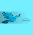 international peace day dove social media banner vector image vector image