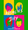 International womens day pop art woman poster