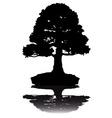 japanese bonsai tree silhouette on white backgroun vector image vector image