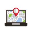 Laptop application technology navigation pin map